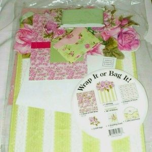 Other - 10 Piece Rose Paper Ribbon Wrap It Gift Bag